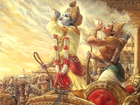 krishna + arjuna
