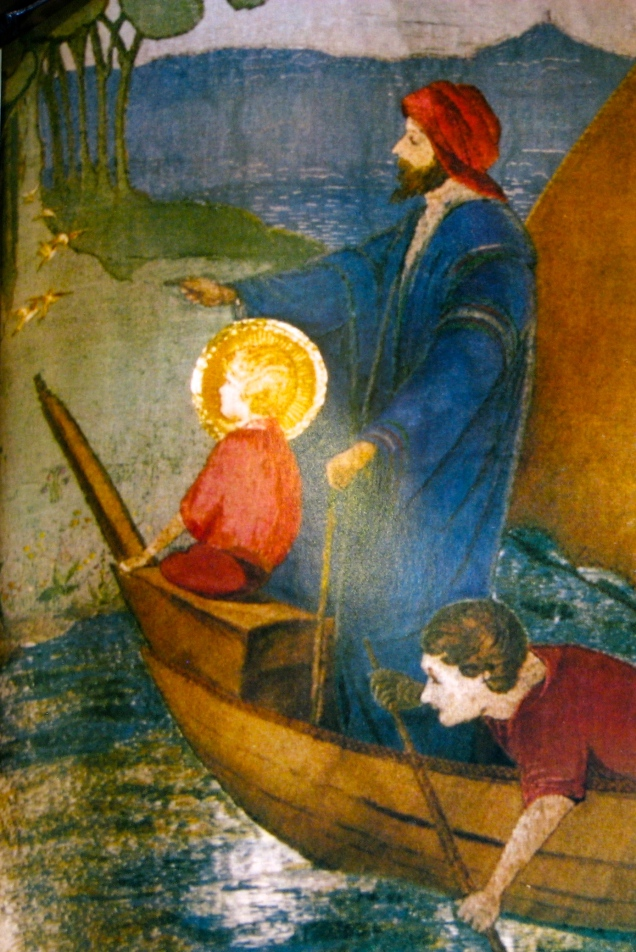 Christ Jesus approaching Britain, in an edition of Mysteries of the Holy Grail via Messenger ECP